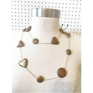 Jewelry - Seasonal whispers hearts discs necklace